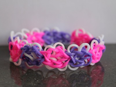 Rainbow Loom Nederlands, butterfly blossom armband