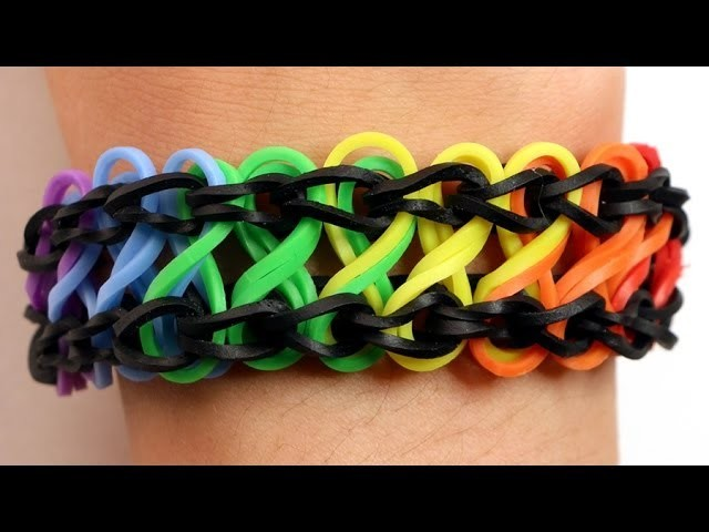 Rainbow Loom Nederlands - Double Infinity Armband || Loom bands, rainbow loom, nederlands, tutorial