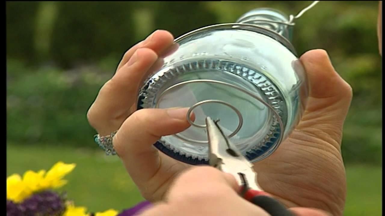 Flaschenvasen DIY   Deko Tipp für Heim und Garten