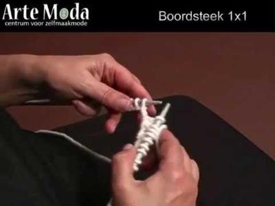 Arte Moda voorbeeld breien: Boordsteek 1x1
