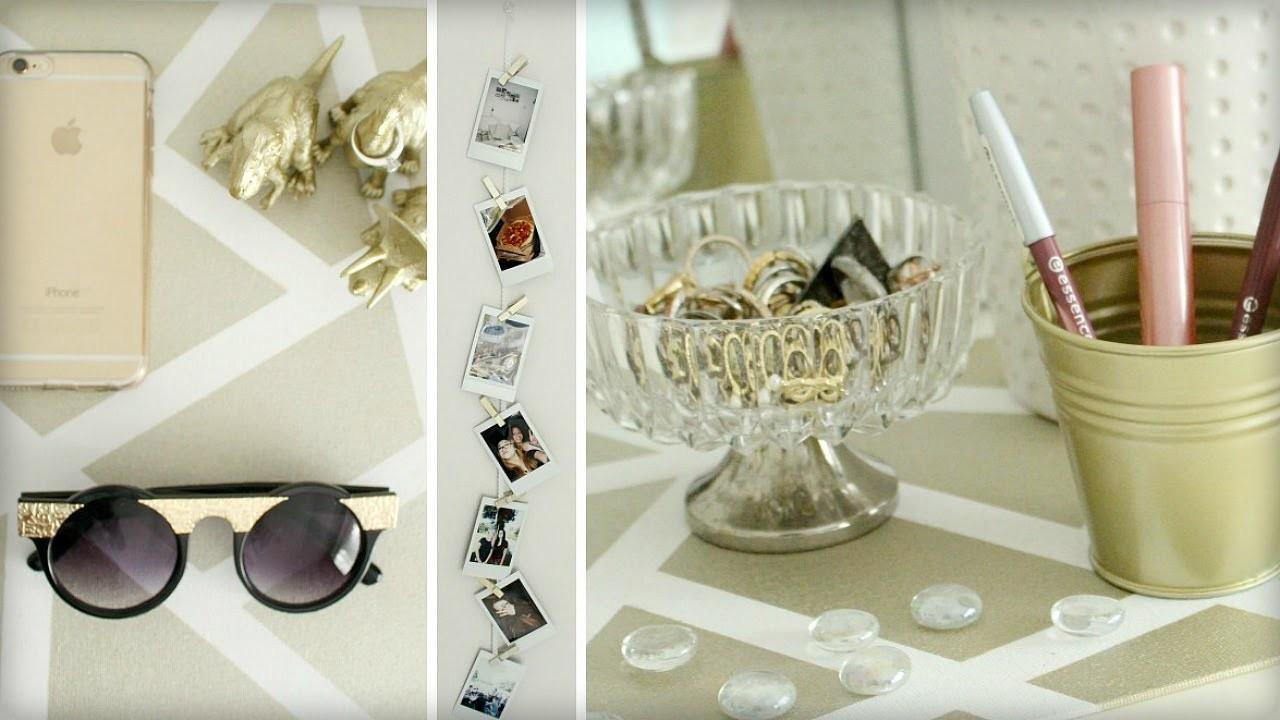 DIY Room Decor: Golden Details!   Sabrina Putri