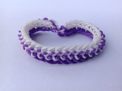 "Rainbow Loom Nederlands, ""Stitched up"" armband"
