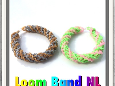 Twist spiraal armband op Monster Tail loom in Nederlands