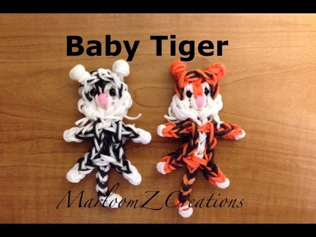Rainbow Loom Baby Tiger - Bengal - White Tiger