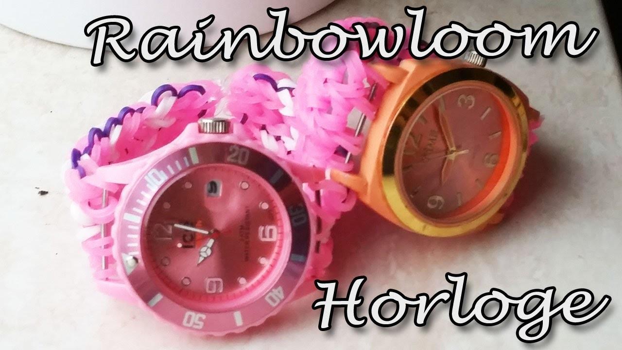 RAINBOW LOOM HORLOGE maak van ieder horloge een loom band! Nederlandse uitleg