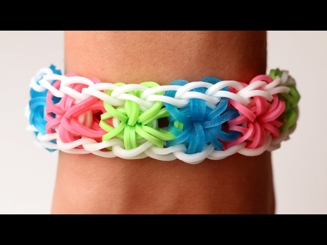 how to make a starburst rainbow loom