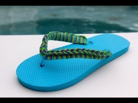 Rainbow Loom Nederlands - Zomerslippers - Flip Flops - Loom bands