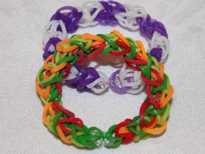 Rainbow Loom, Nederlands, Diamond bracelet, diamant armband