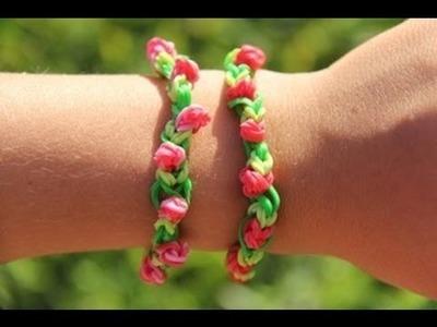 Rainbow Loom Nederlands Roosjes Armband - Rosebud Bracelet