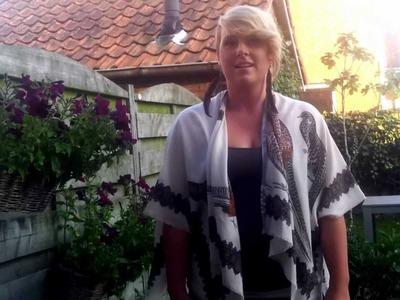 DIY - een vest van een sjaal maken plus OOTD