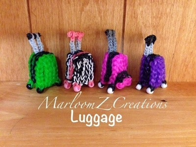 Rainbow Loom Luggage Suitcase Bagage