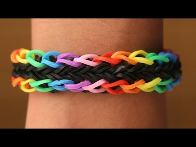 Rainbow Loom Nederlands - Double Trouble Cross || Loom bands, rainbow loom, tutorial, how to