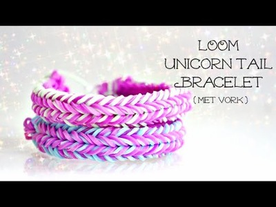 Rainbow Loom Nederlands, Unicorn Tail armband (met vork)