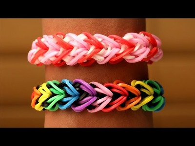 Rainbow Loom Nederlands - Heart Armband || Loom bands, rainbow loom, tutorial, how to