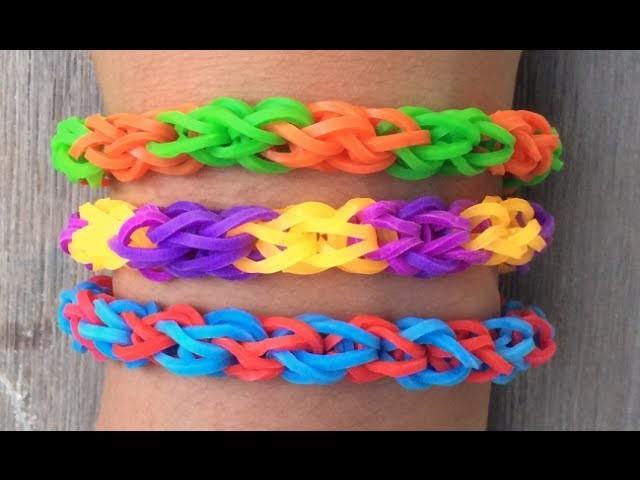 Hoe maak je een dikke, ronde armband met Rainbow Loom bandjes en twee plastic vorkjes?