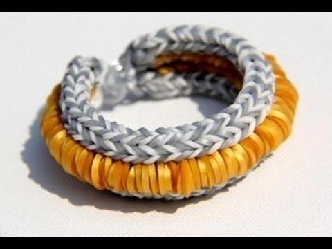 Rainbow Loom Nederlands - Hollywood Bracelet (Original Design) - Loom bands