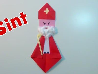 Sinterklaas vouwen en knutselen van papier