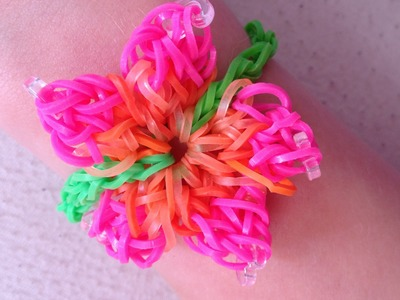 """Uitleg """"Bloemetjes Armband"""" van Rainbow Loom elastiekjes"""