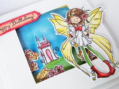 DIY Feeën Shaker Kaart Maken | Handgemaakte Verjaardagskaart