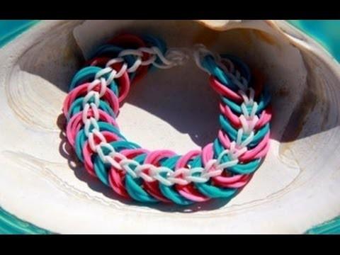 Rainbow Loom Nederlands Triple Link Chain Bracelet