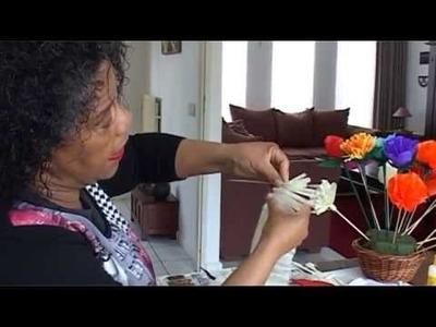 Knutselen met Rosine - Bloemen van crepepapier