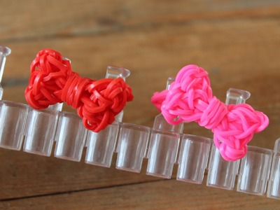 Rainbow loom Nederlands, ring met strikje