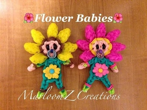 Rainbow Loom Flower Baby: How To: Mother's Day