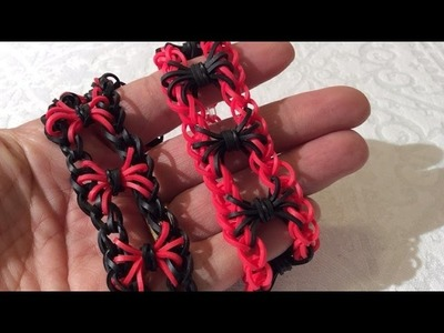 "Rainbow Loom Nederlands, 'Entrapped Spiders"" armband, hook only"