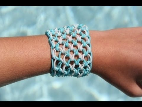 Rainbow Loom Nederlands - Dragon Scale Bracelet - Armband (10 pinnetjes)