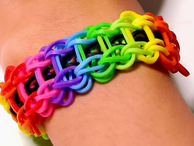 Rainbow loom Nederlands - Ladder armband || Loom bands, rainbow loom, nederlands, tutorial, how to