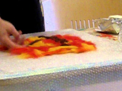 Creatieve therapie, workshop vilten, 2011