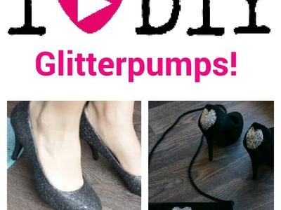 DIY Fashion: Glitterpumps- en tasje!