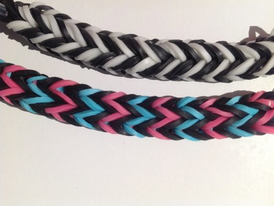"Rainbow Loom Nederlands, "" Fishtail fun"" armband, fingerloom"