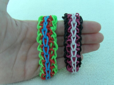 Rainbow Loom Nederlands, Chinese Waterfall Armband. Chinese Waterfall Bracelet (Original Design)