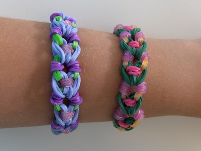 Rainbow Loom Nederlands, Dotted Hearts Armband. Dotted Hearts Bracelet (Original Design)