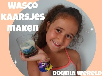 DIY Kaarsjes maken van wasco's. Wasco candles DIY