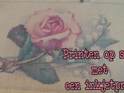 Diy Zelf op stof printen, Leuk voor moederdag!