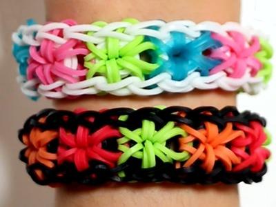Rainbow Loom Nederlands - Starburst armband || Loom bands, rainbow loom, nederlands