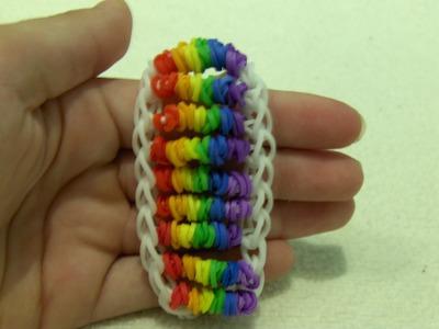 Rainbow Loom Nederlands, Candy Twist Armband. Candy Twist Bracelet