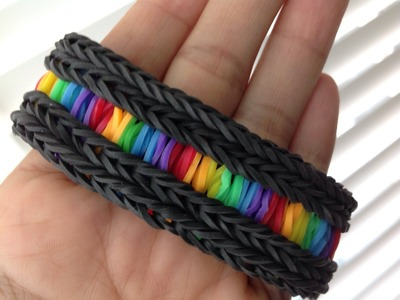Rainbow Loom Nederlands, Rainbow Road Armband, op de loom