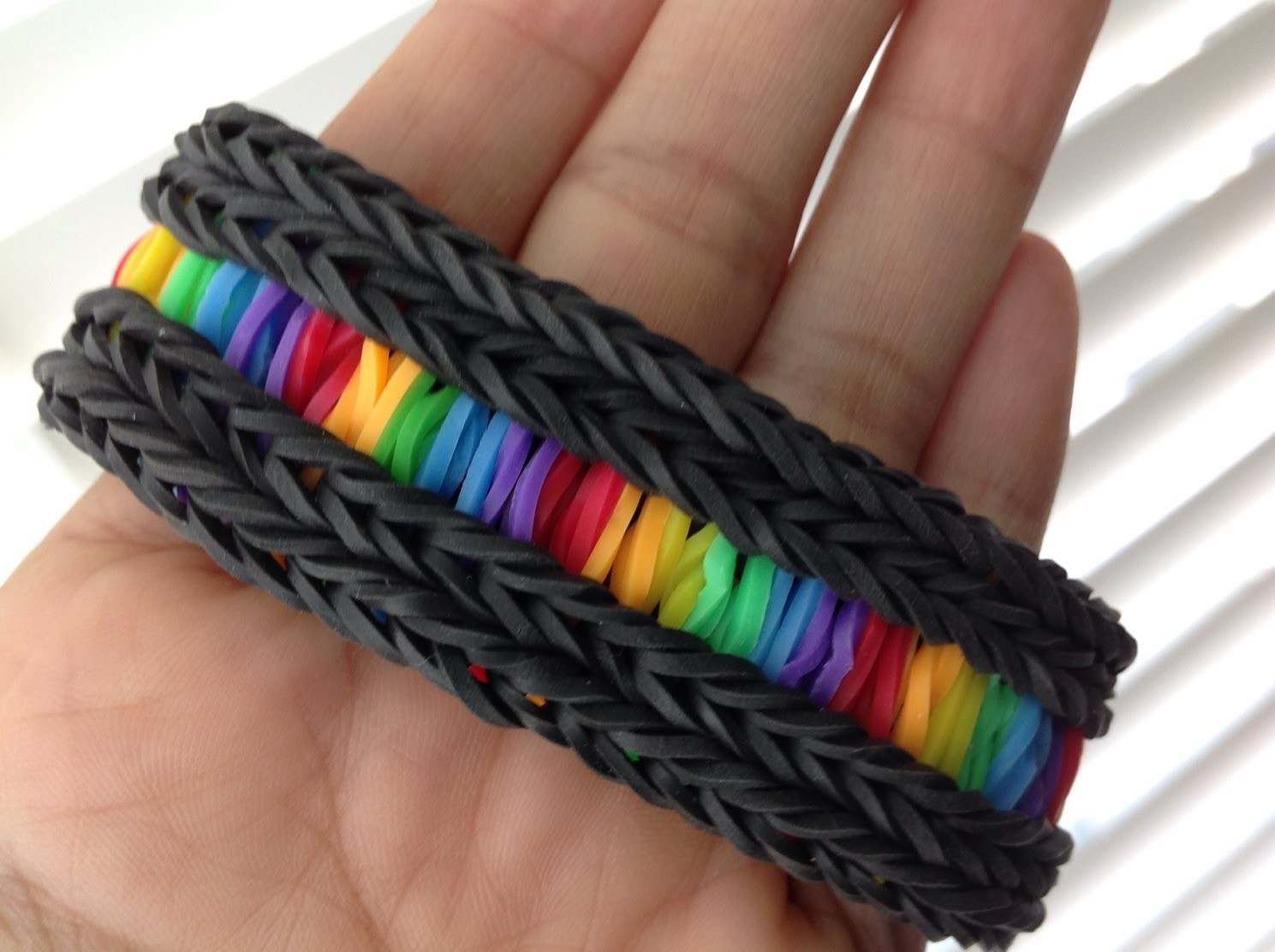 Rainbow Loom Nederlands, Rainbow Road Armband, op de loom