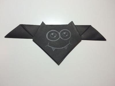 Vleermuis vouwen van papier (origami) - makkelijk om te knutselen met kinderen