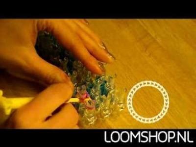 Vissengraat. Vissenstaart Rainbow Loom NL (2)