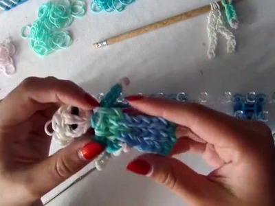 Rainbow loom band it tutorial disney elsa frozen deel 1 NL