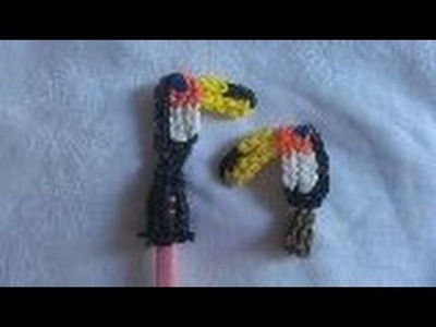 Rainbow loom Nederlands: toekan pencil topper (original design)