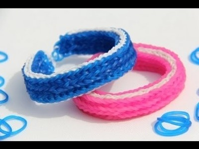 Rainbow Loom Nederlands - Hooked Triple Fishtail Bracelet - Loom bands