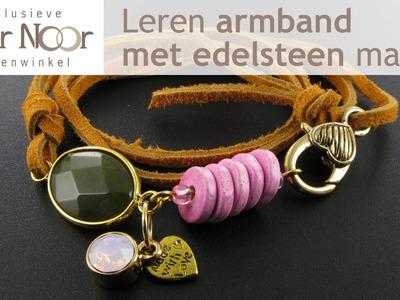 Armband maken met leren veter