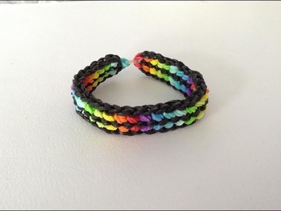 Rainbow loom Nederlands, double capped dragon scale, armband
