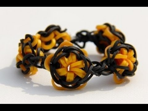 Rainbow Loom Nederlands - Lone Star Bracelet (Original Design) - Loom bands
