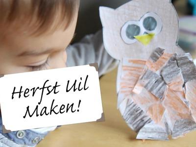 Uil maken: herfst knutselen met kinderen | Pelpina